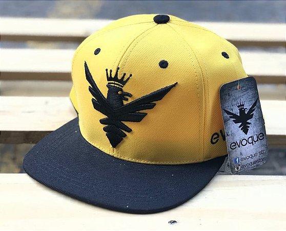 Boné Snapback Aba Reta Yellow Logo - Evoque