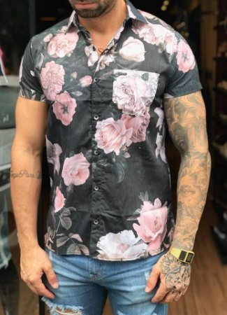 Camisa Manga Curta Floral - Kawipii - Imperium Store - Shopping ... 9e2d6c0c1aa
