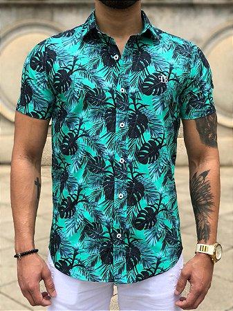 Camisa Floral Verde - FB Exclusive Clothing