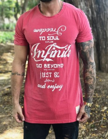 Camiseta Longline Infinite To Soul - Booq For Men