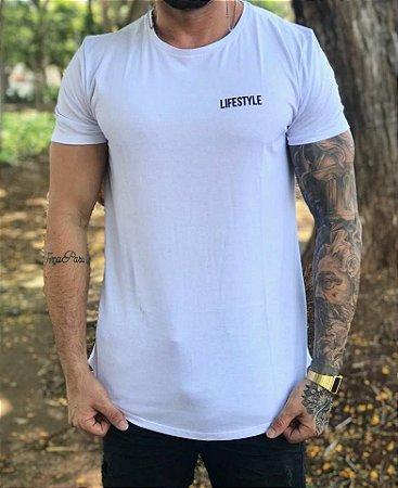 Camiseta Longline Lifestyle White - Bora