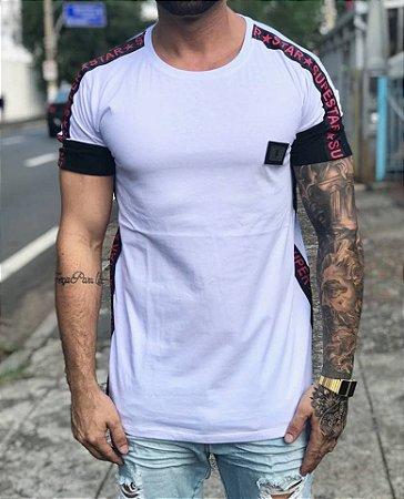 Camiseta Longline White Faixa Ombro - Riviera Clothing
