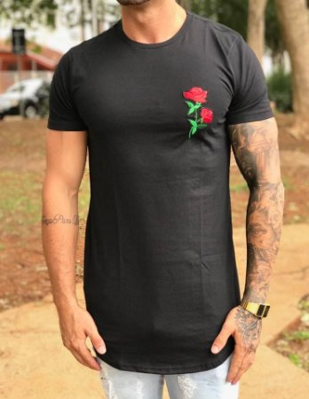 Camiseta Longline Patch Black - Nifty - Imperium Store - Shopping ... 98297f8ba3a