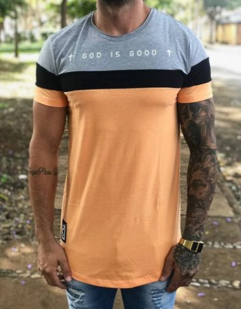 Camiseta Longline God is Good - King Joy