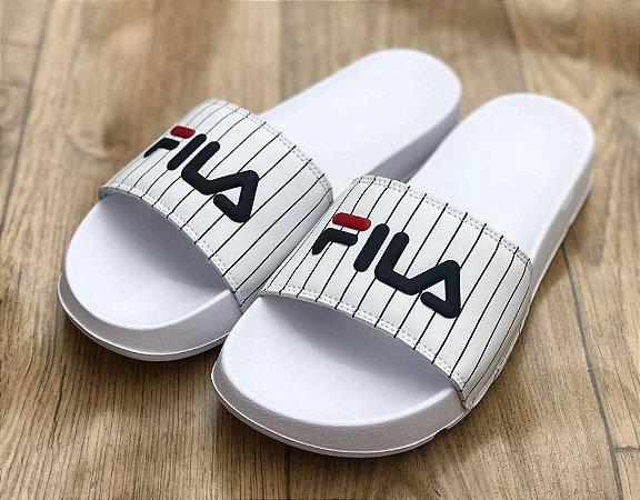 Chinelo Slide Listras White - Fila - Imperium Store - Shopping ... de2d5a27d2
