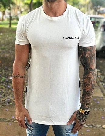 Camiseta Longline Night White - La Mafia