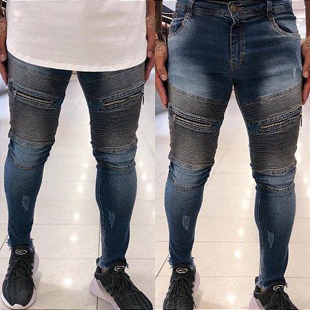 Calça Jeans Skinny Transversal - Degrant