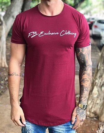 1331250c7 Camiseta Longline Signature Bordô - Fb Exclusive Clothing - Imperium ...