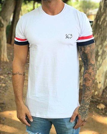 Camiseta Longline Mango Stripes White - Effel Culture