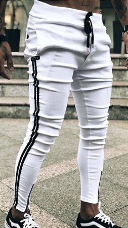 Calça Bengaline C/faixa White - Lacapa