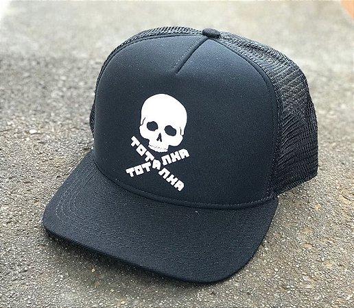 Boné Trucker Aba Curva Skull Black - Totanka - Imperium Store ... 1742ca3b6f1