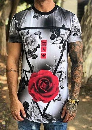 da53ff9a4 Camiseta Longline Rosa Black White - Evoque - Imperium Store ...