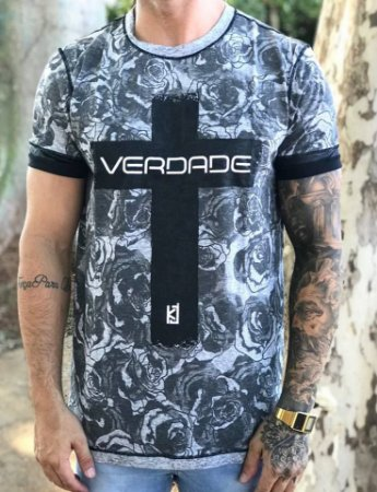 Camiseta Longline Floral Full - King Joy - Imperium Store - Shopping ... f80c293645a