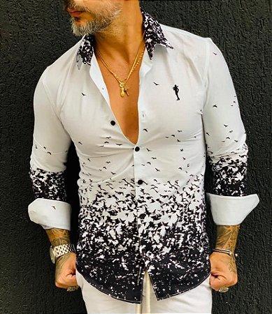 Camisa Social Pássaros - Zip Off - Imperium Store - Shopping Online ... 31d7d0de437