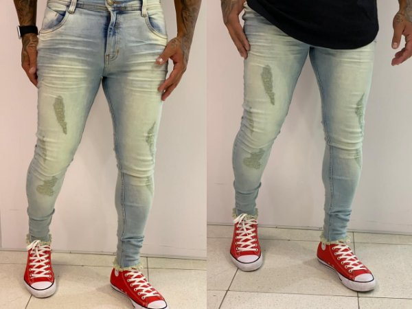 Calça Jeans Skinny Destroyed Curuipe Dirty - Degrant