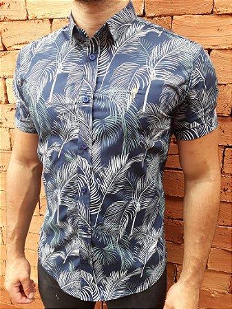 Camisa Manga Curta Fern Blue - J Trentino