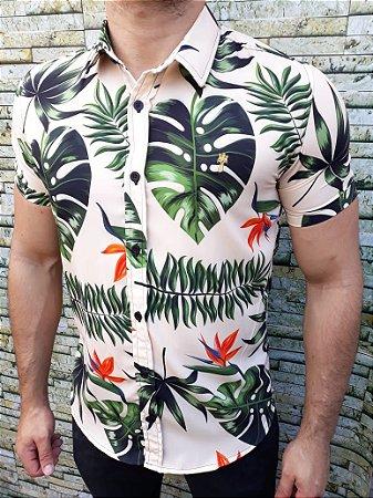 4672ac57bc Camisa Social Manga Curta Amazon - J Trentino - Imperium Store ...