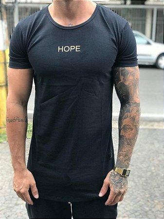Camiseta Longline Wings Black 2 - The Hope