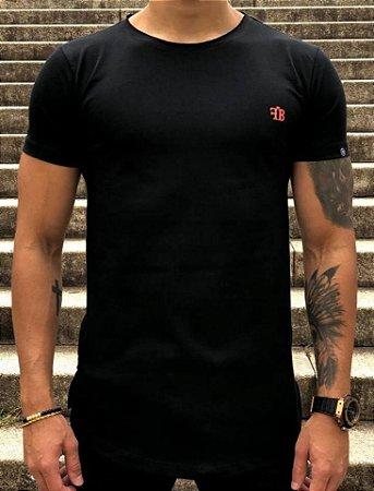 Camiseta Longline Logo Orange Black - FB Exclusive Clothing