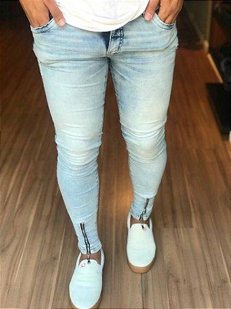 Calça Jeans Skinny Clean C/Zíper - Austin Club