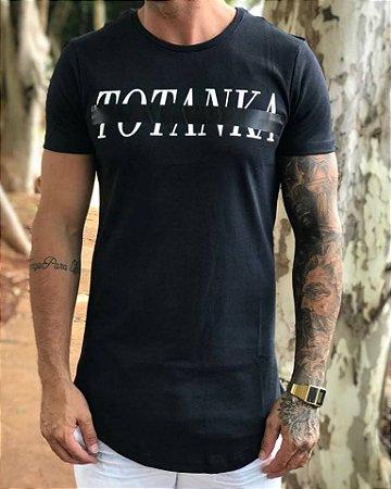Camiseta Longline Black Middle - Totanka