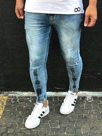 238156ace Calça Jeans Skinny Sky Zíper Barra - Zip Off - Imperium Store ...