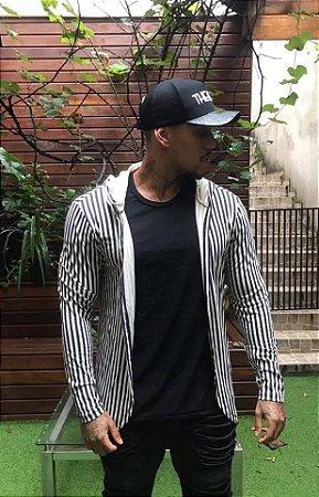 Cardigan Listras Black White - Exalt Urban
