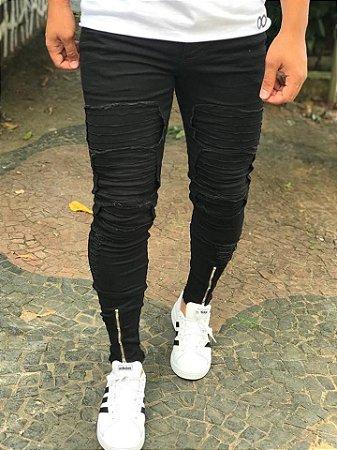 Calça Black Skinny Biker - Kawipii