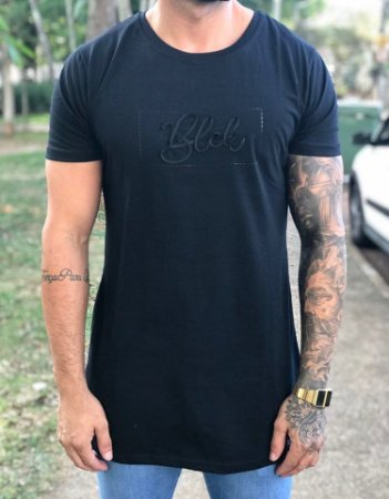 Camiseta Longline Cord - BLCK