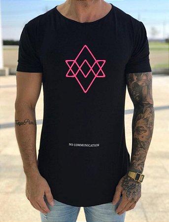 Camiseta Longline Comunication Black - Alltribe