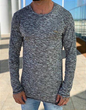 Manga Longa Mescla Recorte - FB Exclusive Clothing