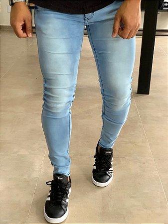 Calça Jeans Sky Bleach Azul Skinny Yuma - Zip Off