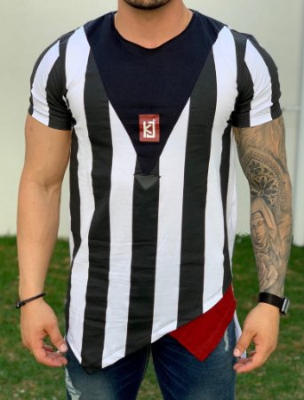 Camiseta Longline Listra Recorte - King Joy