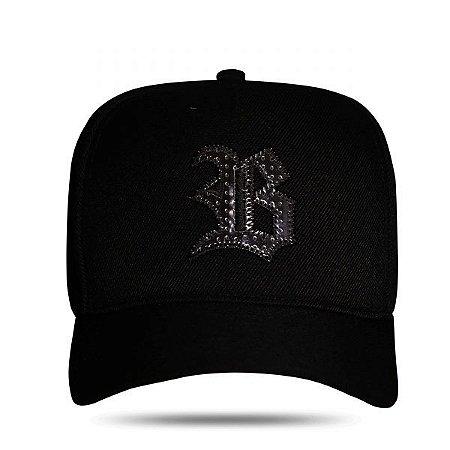Boné Snapback Logo Cromo Black - BLCK