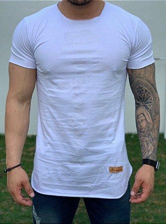 Camiseta Longline White Rose White - Kreta
