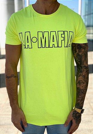 Camiseta Longline Yellow Neon - La Mafia