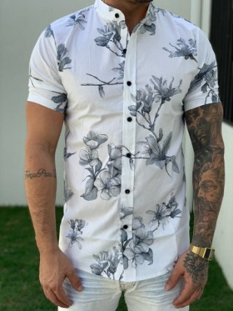 Camisa Manga Curta Flowers - Grace