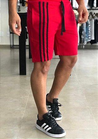 Bermuda Moletinho Red Faixas - Kawipii
