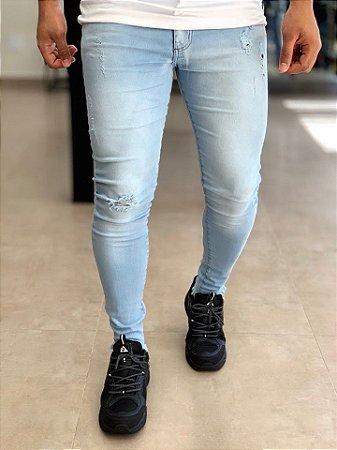 Calça Jeans Bright Skinny Barra Desfiada - Carboss