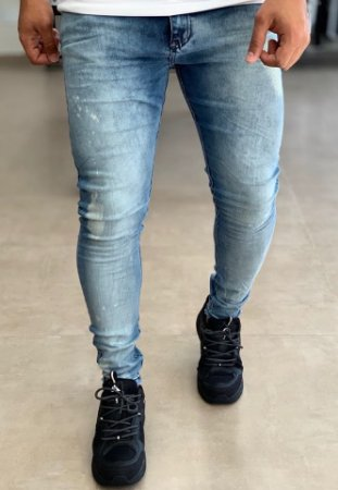 Calça Jeans Skinny Basic Splash White - City Denim