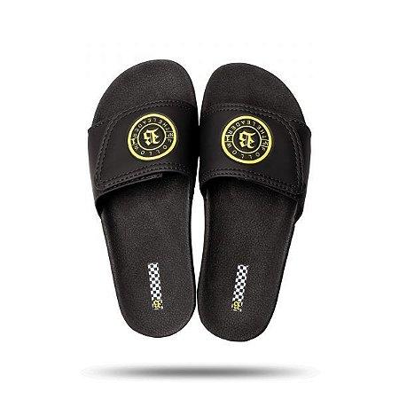 Chinelo Slide Black Yellow - BLCK Brasil