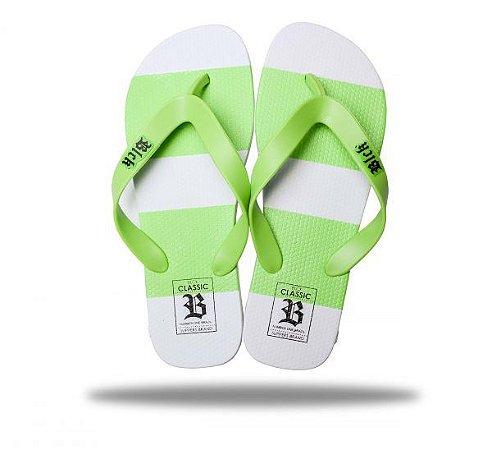 Chinelo Tradicional Classics White Green - BLCK Brasil