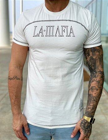 Camiseta Longline Off White - La Mafia