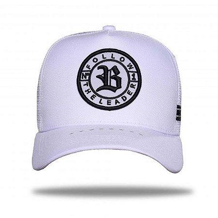 Boné Trucker Follow Reflective White - BLCK Brasil