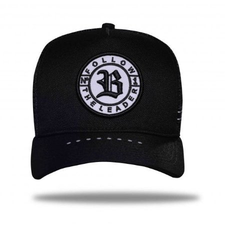 Boné Trucker Follow Reflective Black - BLCK Brasil