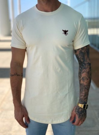 Camiseta Longline Cream Color Bravery - Totanka