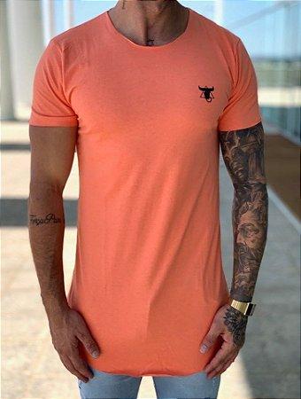 Camiseta Longline Laranja Básica - Totanka