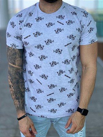 T-shirt Grey Full - Bulldog Fish