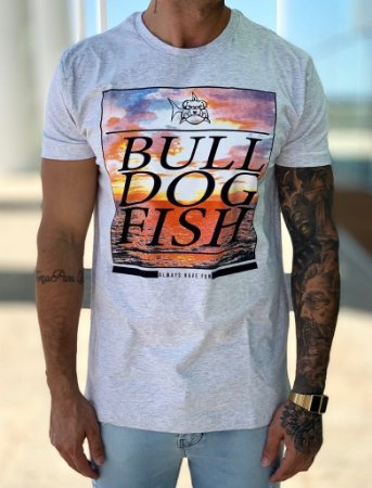 T-shirt Grey Colors - Bulldog Fish