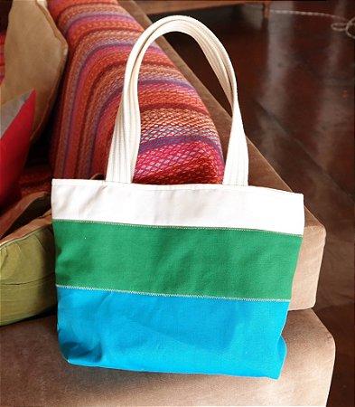 Bolsa de lona verão azul